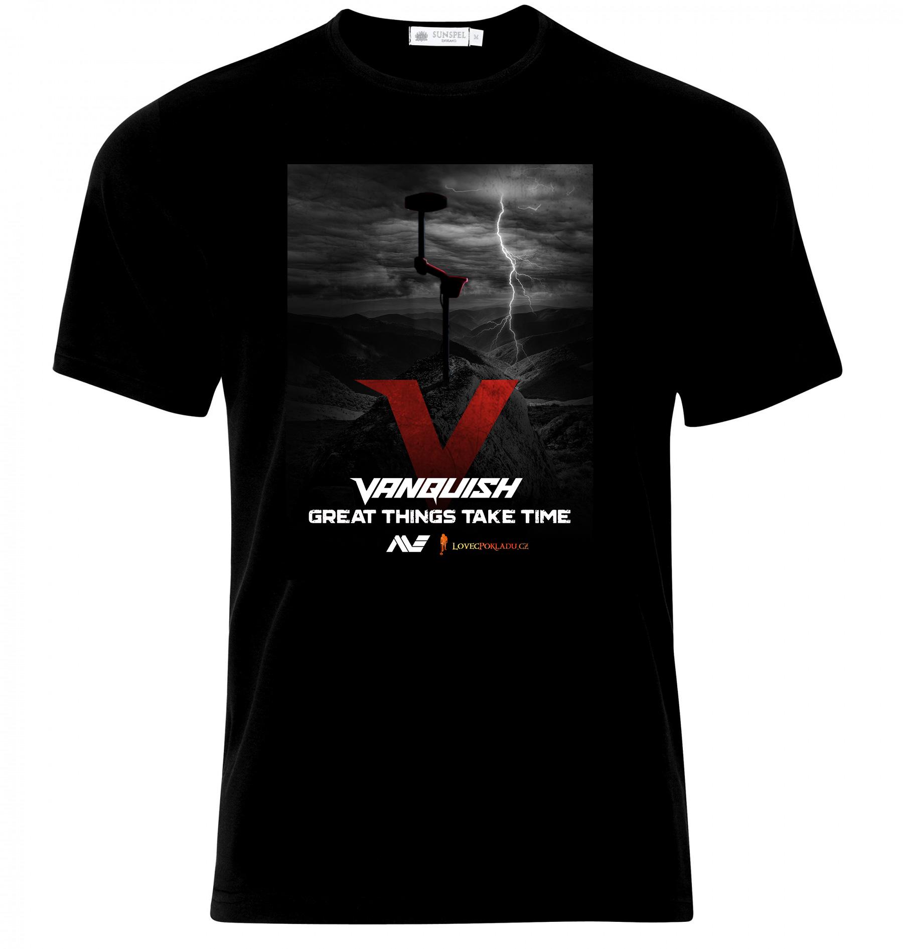 Detektor kovů Minelab Vanquish, tričko Vanquish