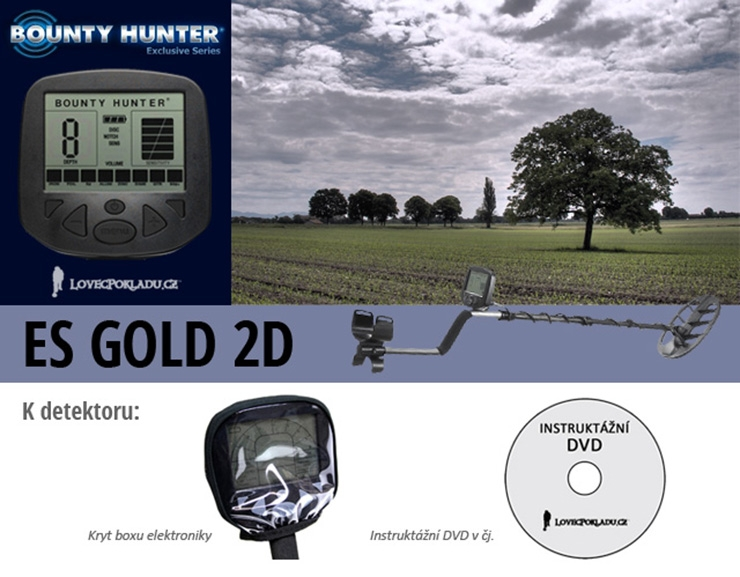 Detektor kovů Bounty Hunter ES Gold 2D