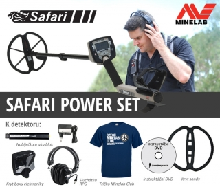 Detektor kovů Minelab Safari - Power set