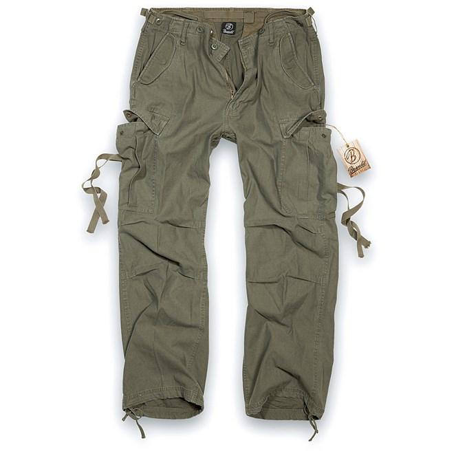 brandit kalhoty vintage trouser olive, detektory kovu zipsy