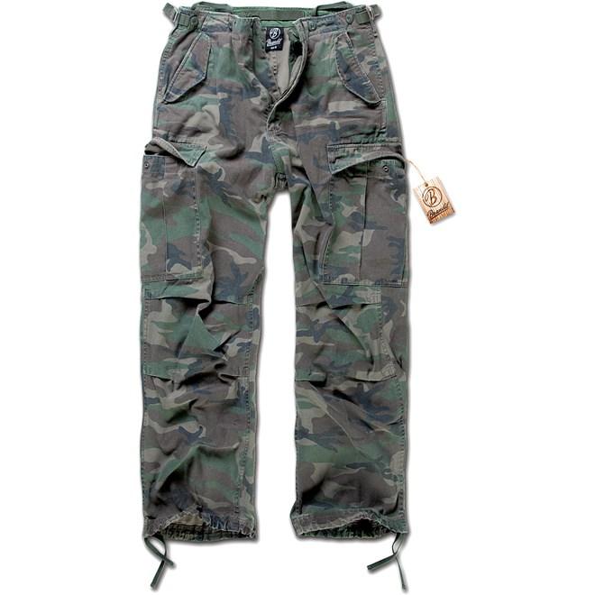 brandit kalhoty vintage trouser woodland, detektory kovu zipsy