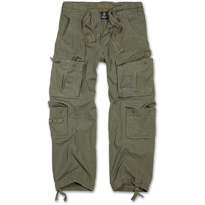 kalhoty-brandit-pure-vintage, olive, detektory-kovu-zipsy
