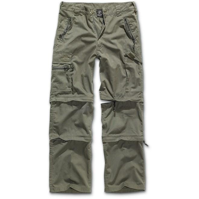Kalhoty outdoor, Brandit, odepínací nohavice, detektory kovů Zipsy