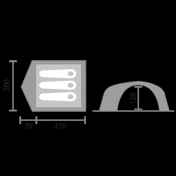 Stan II pro 3 osoby, detektory kovů Zipsy