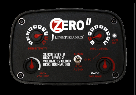 LP ZERO 30, detektory kovu Zipsy